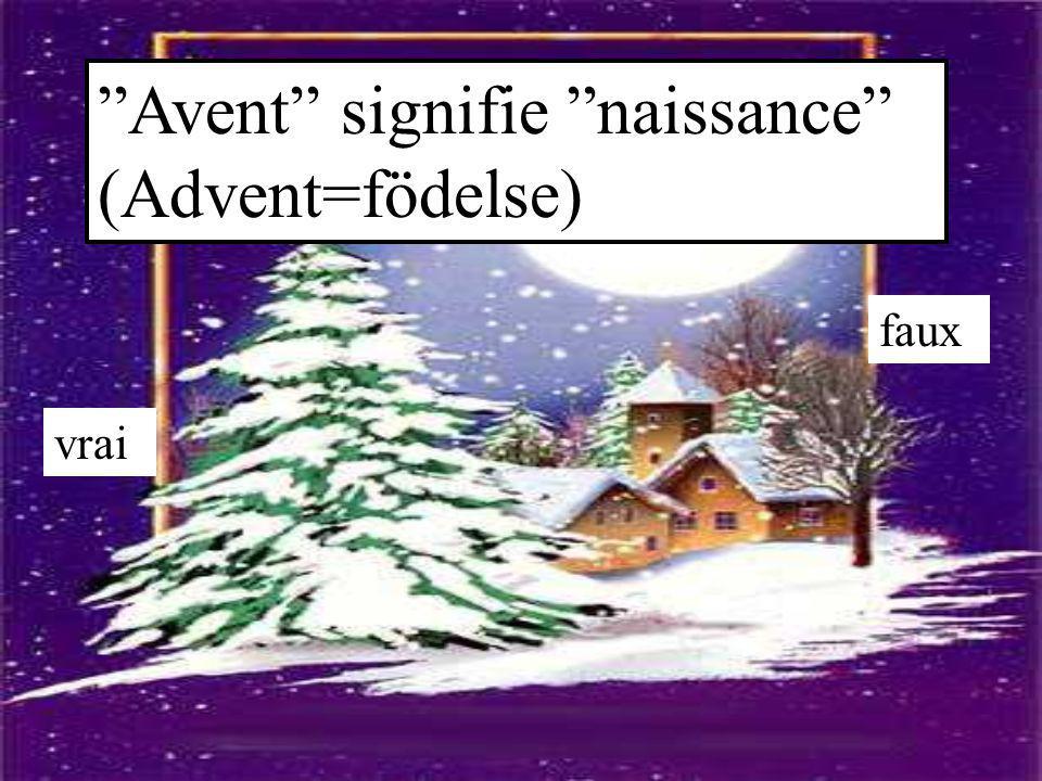 Avent signifie naissance (Advent=födelse)