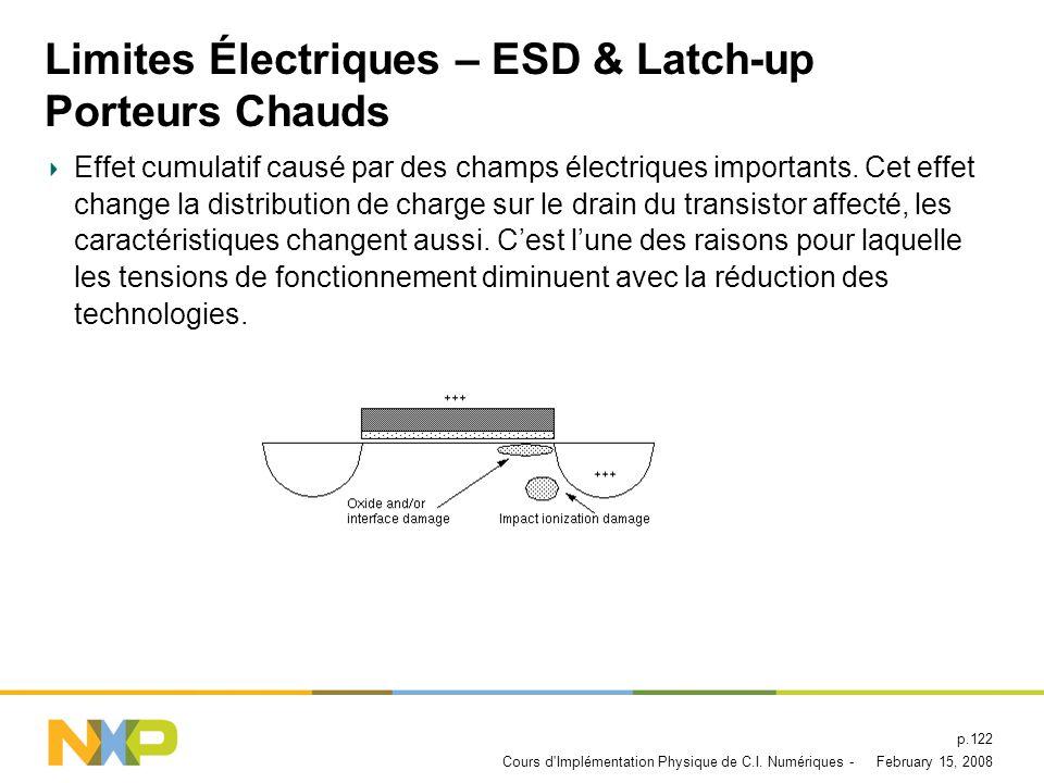 Limites Électriques – ESD & Latch-up Porteurs Chauds