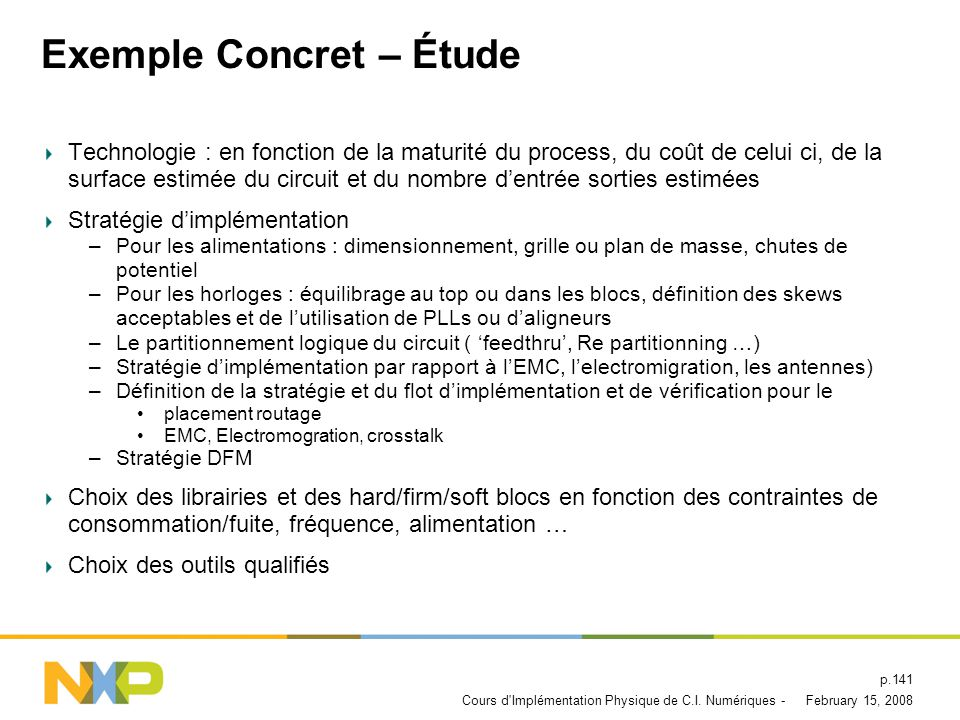 Exemple Concret – Étude