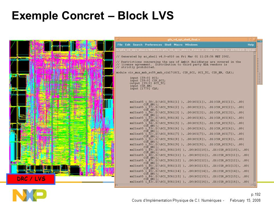 Exemple Concret – Block LVS