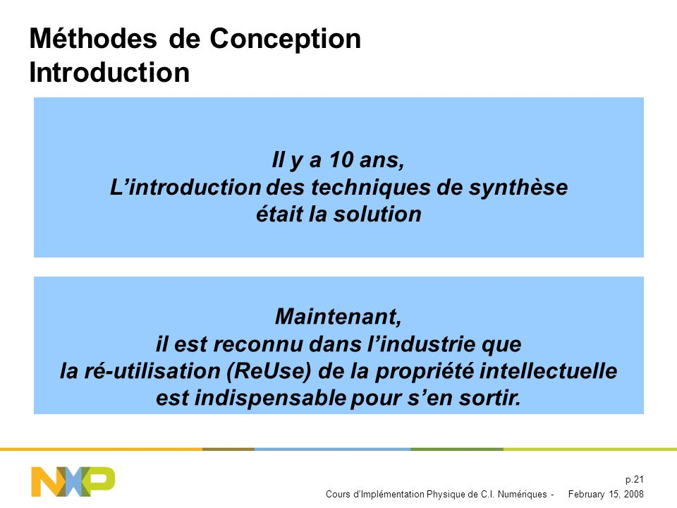 Méthodes de Conception Introduction