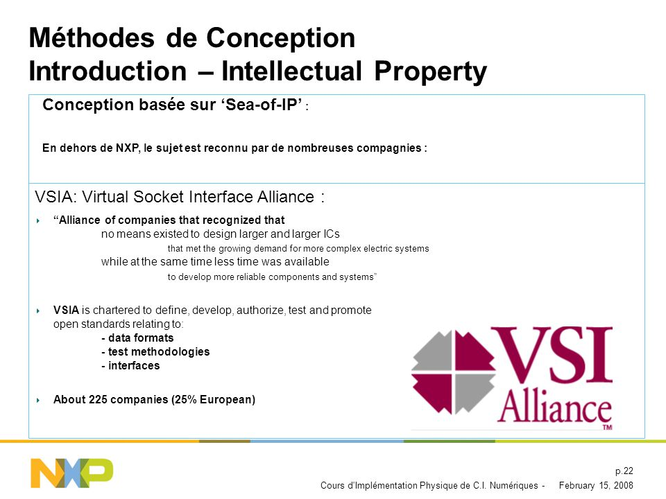 Méthodes de Conception Introduction – Intellectual Property