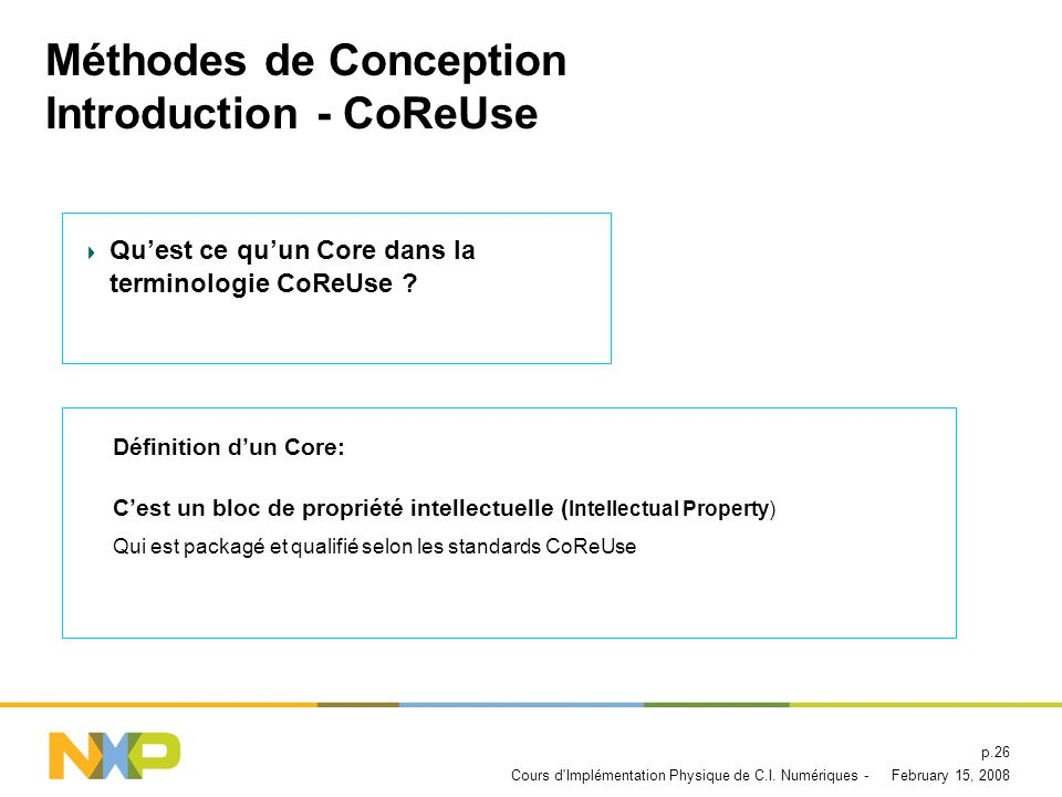 Méthodes de Conception Introduction - CoReUse