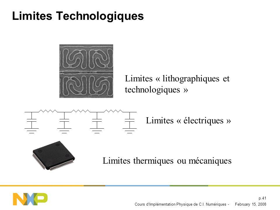 Limites Technologiques