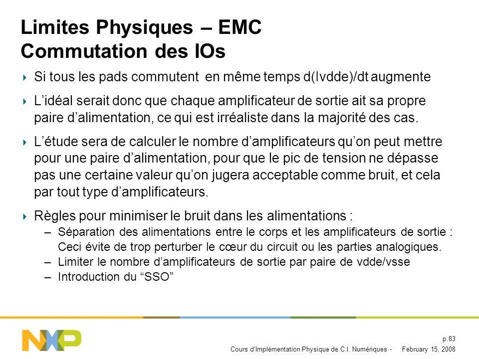 Limites Physiques – EMC Commutation des IOs
