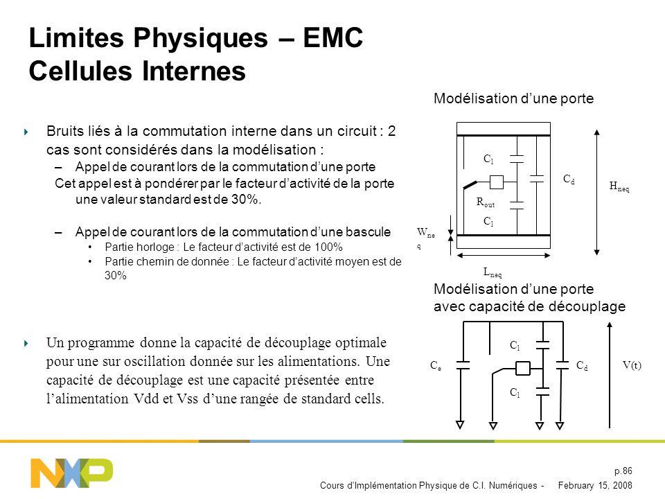 Limites Physiques – EMC Cellules Internes