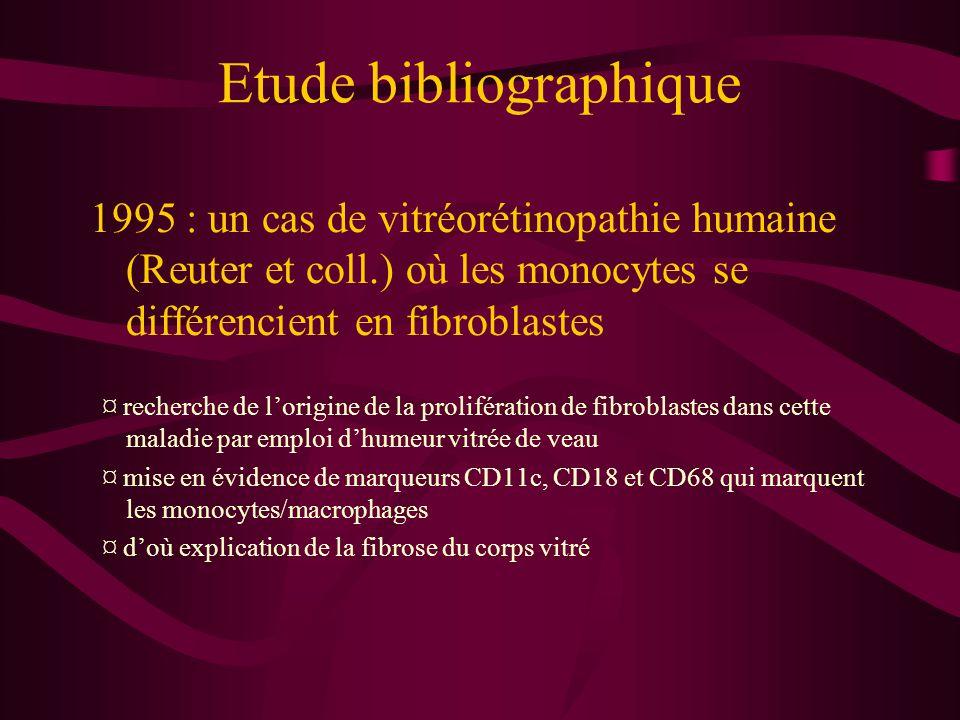 Etude bibliographique
