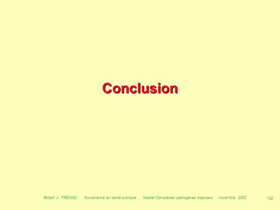 Conclusion Robert J.