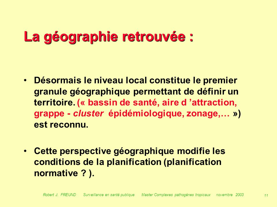 La géographie retrouvée :