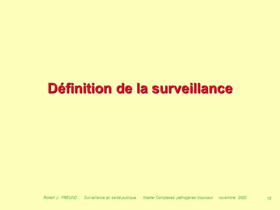 Définition de la surveillance