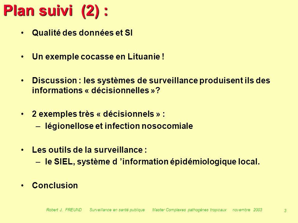 Plan suivi (2) : Qualité des données et SI