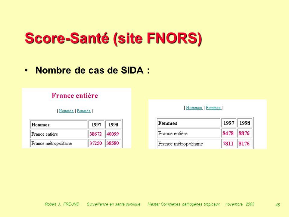Score-Santé (site FNORS)