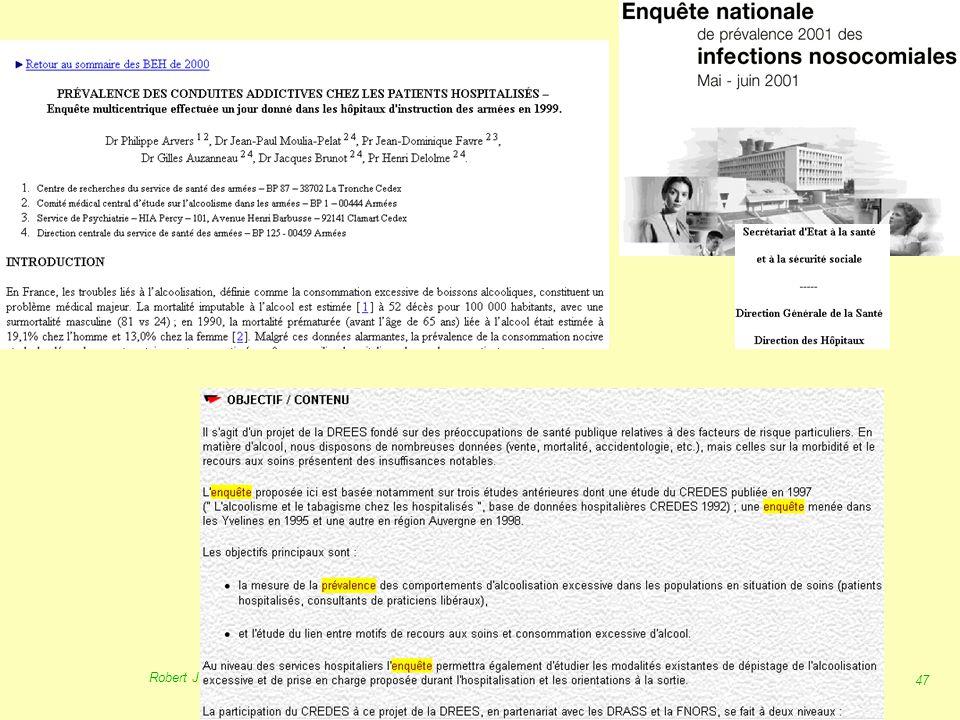 Robert J. FREUND Surveillance en santé publique Master Complexes pathogènes tropicaux novembre 2003