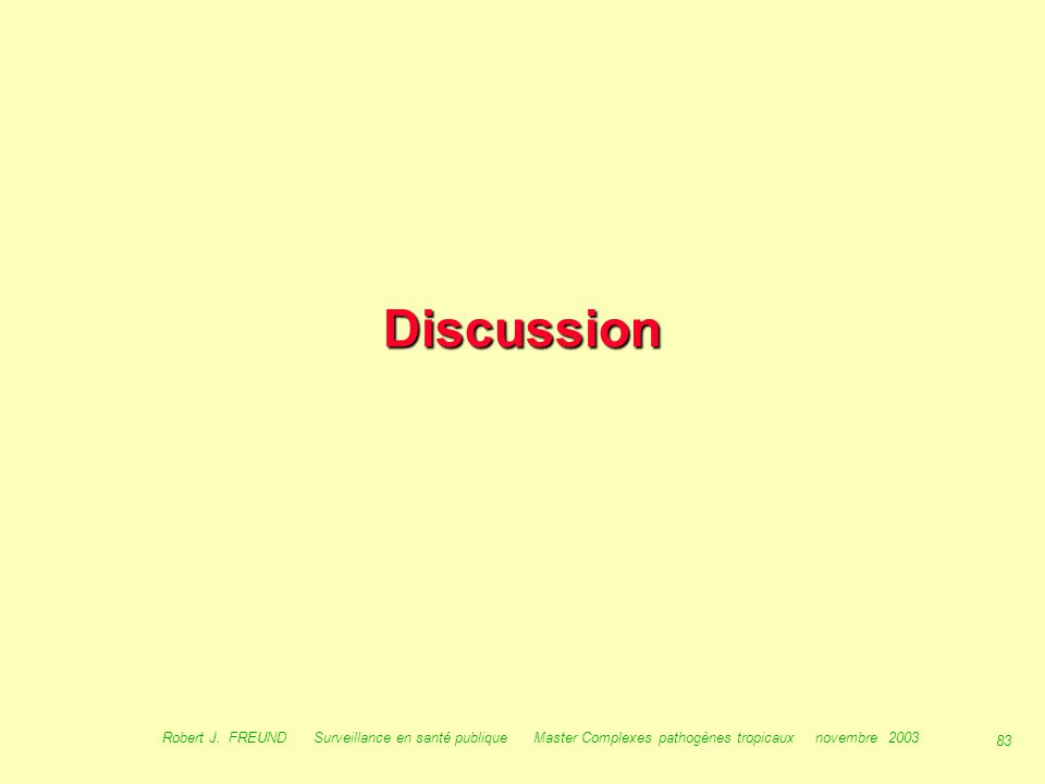 Discussion Robert J.