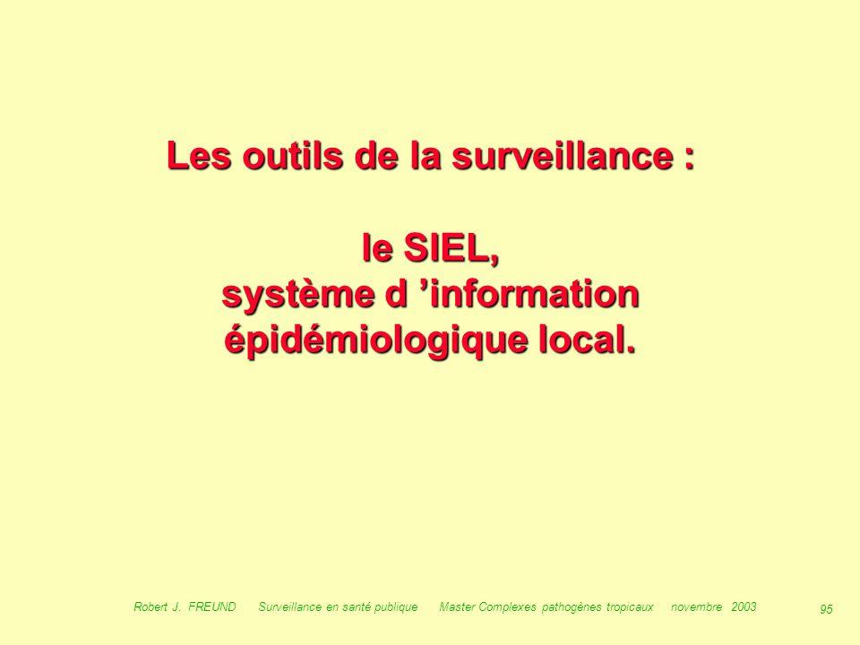 Les outils de la surveillance : le SIEL, système d 'information épidémiologique local.
