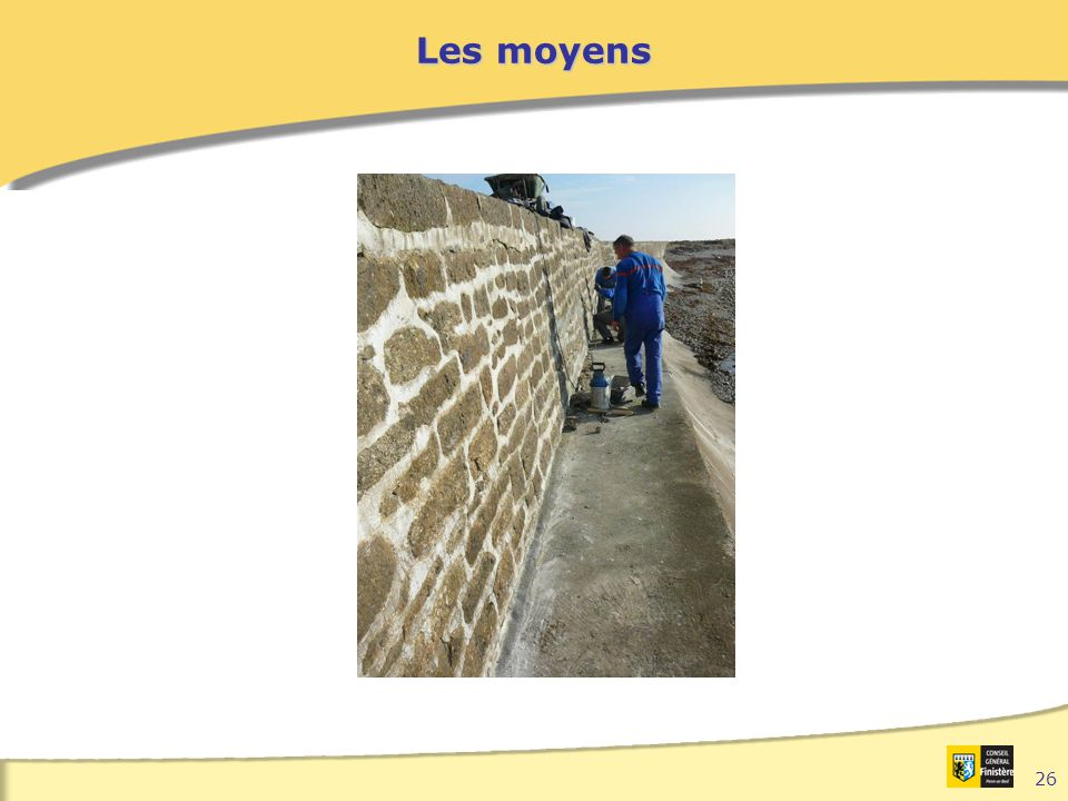 Les moyens Types d'interventions