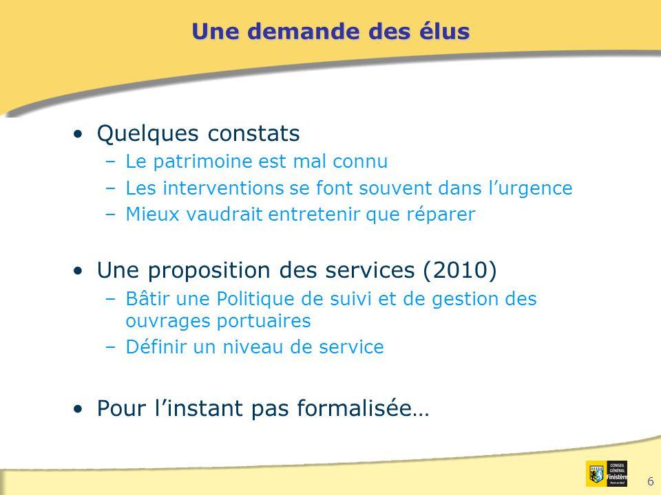 Une proposition des services (2010)