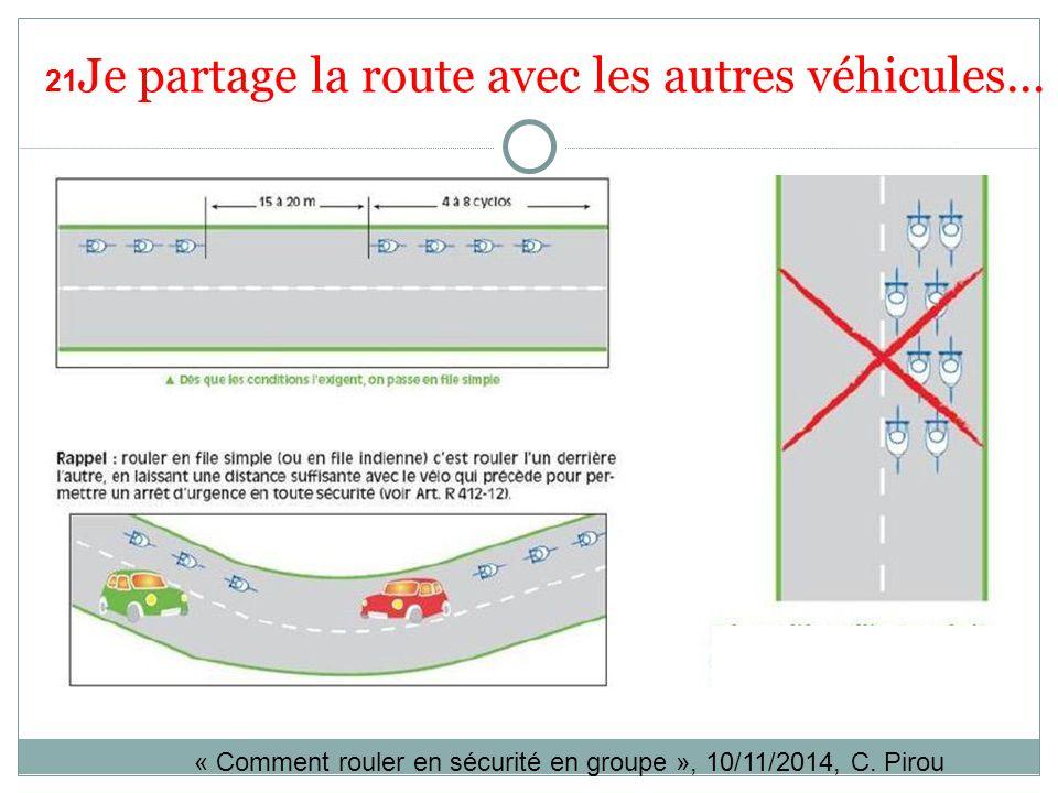 21Je partage la route avec les autres véhicules...