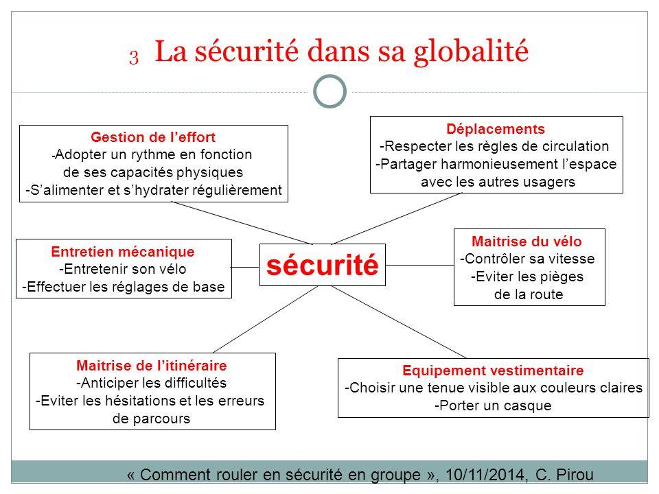 3 La sécurité dans sa globalité