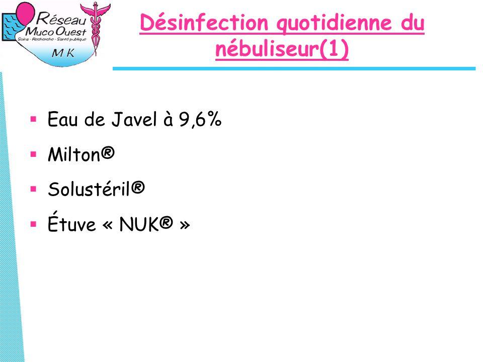 Désinfection quotidienne du nébuliseur(1)