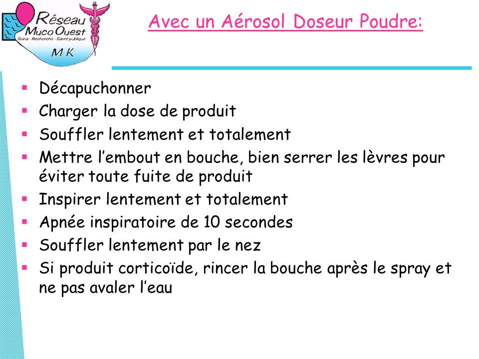Avec un Aérosol Doseur Poudre: