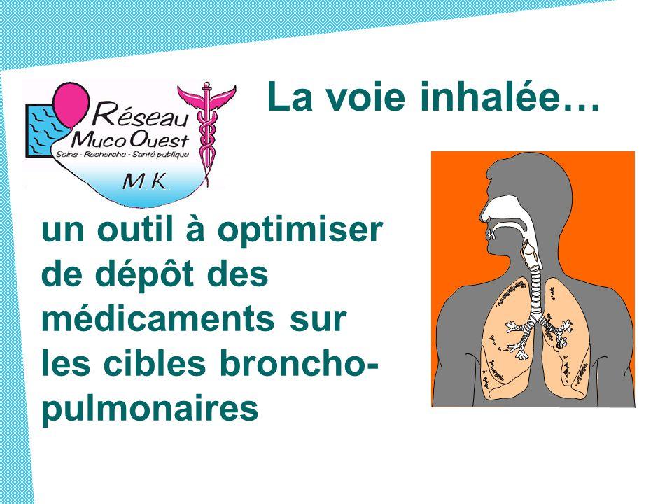 La voie inhalée… un outil à optimiser de dépôt des médicaments sur les cibles broncho-pulmonaires.