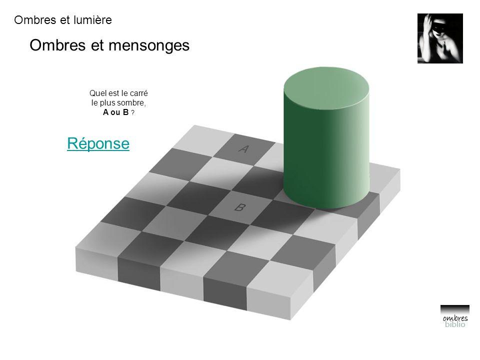 Quel est le carré le plus sombre, A ou B