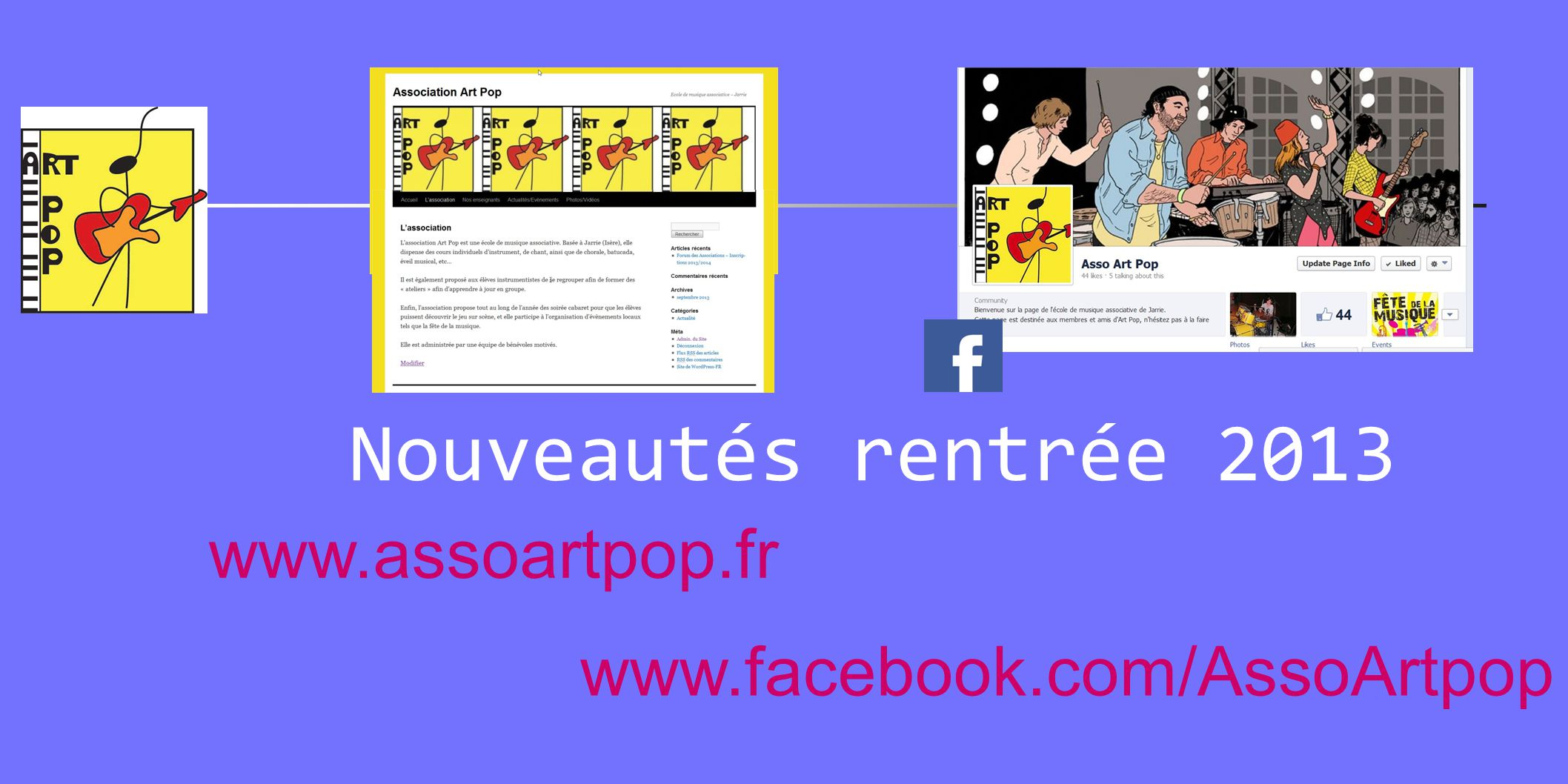 Nouveautés rentrée 2013 www.assoartpop.fr www.facebook.com/AssoArtpop