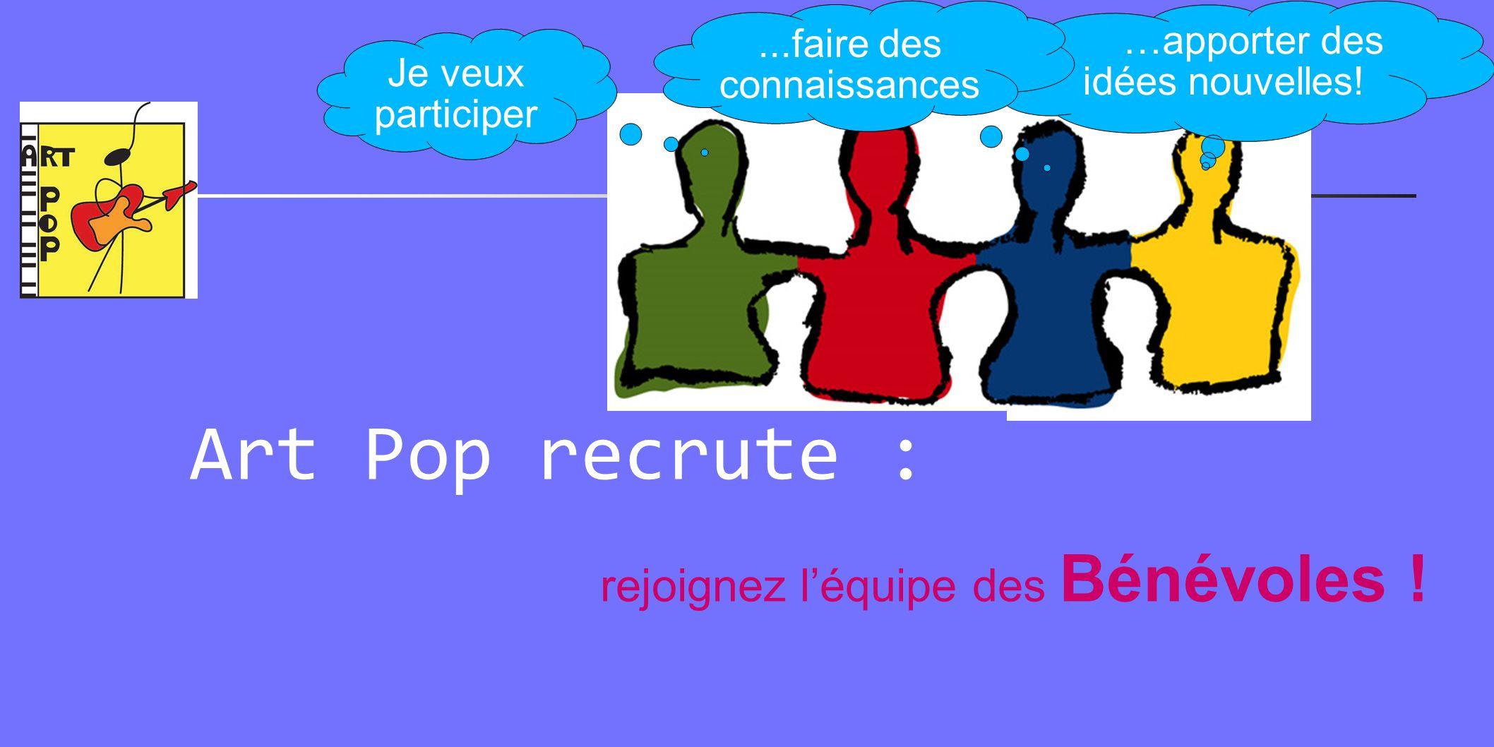 Art Pop recrute : rejoignez l'équipe des Bénévoles !