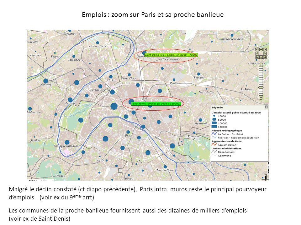Emplois : zoom sur Paris et sa proche banlieue