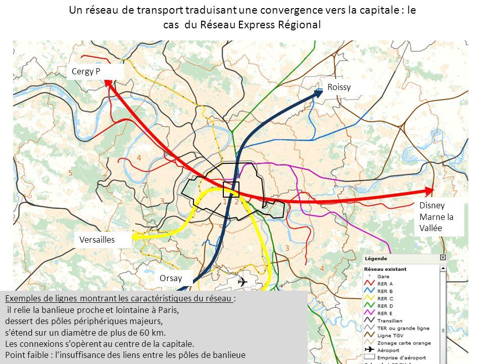 Un réseau de transport traduisant une convergence vers la capitale : le cas du Réseau Express Régional