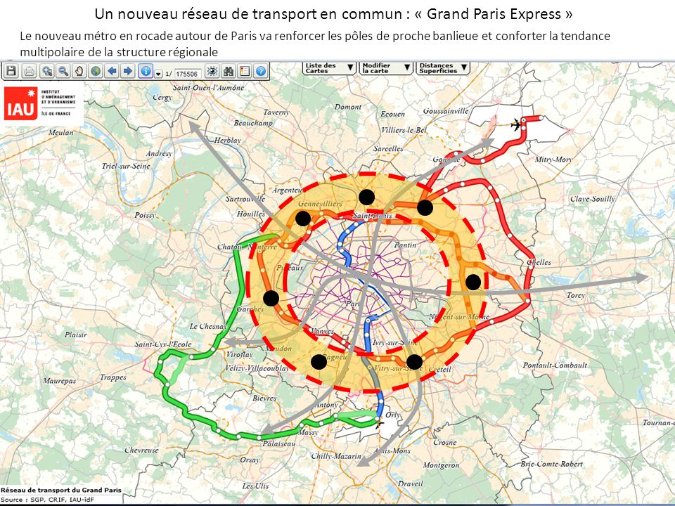 Un nouveau réseau de transport en commun : « Grand Paris Express »