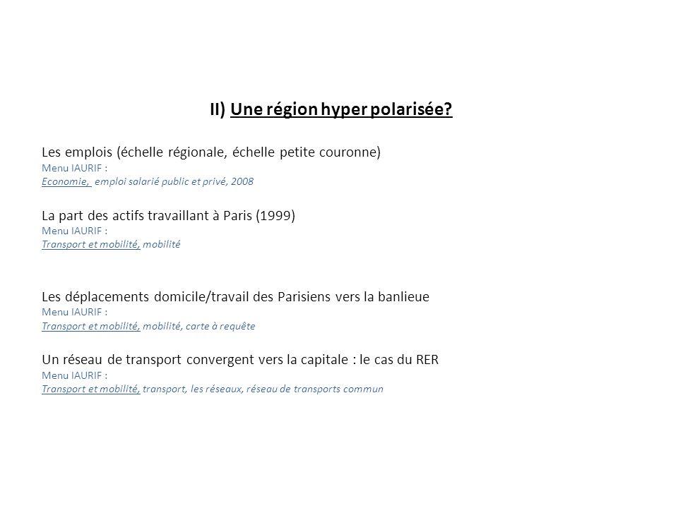 II) Une région hyper polarisée