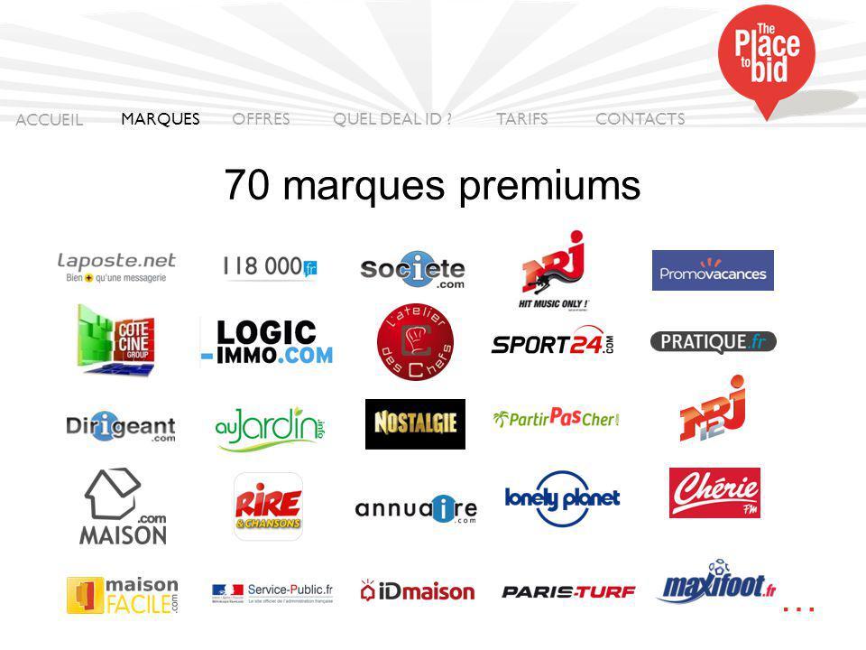 70 marques premiums … ACCUEIL MARQUES OFFRES QUEL DEAL ID TARIFS