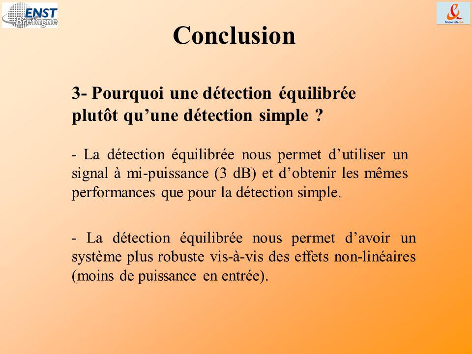 Conclusion 3- Pourquoi une détection équilibrée plutôt qu'une détection simple