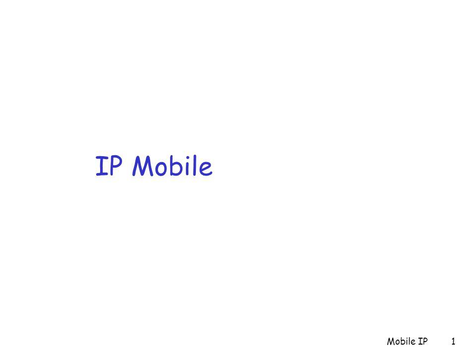 IP Mobile Mobile IP