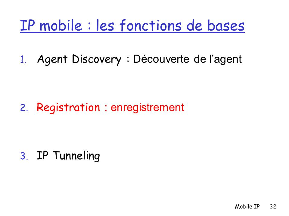 IP mobile : les fonctions de bases