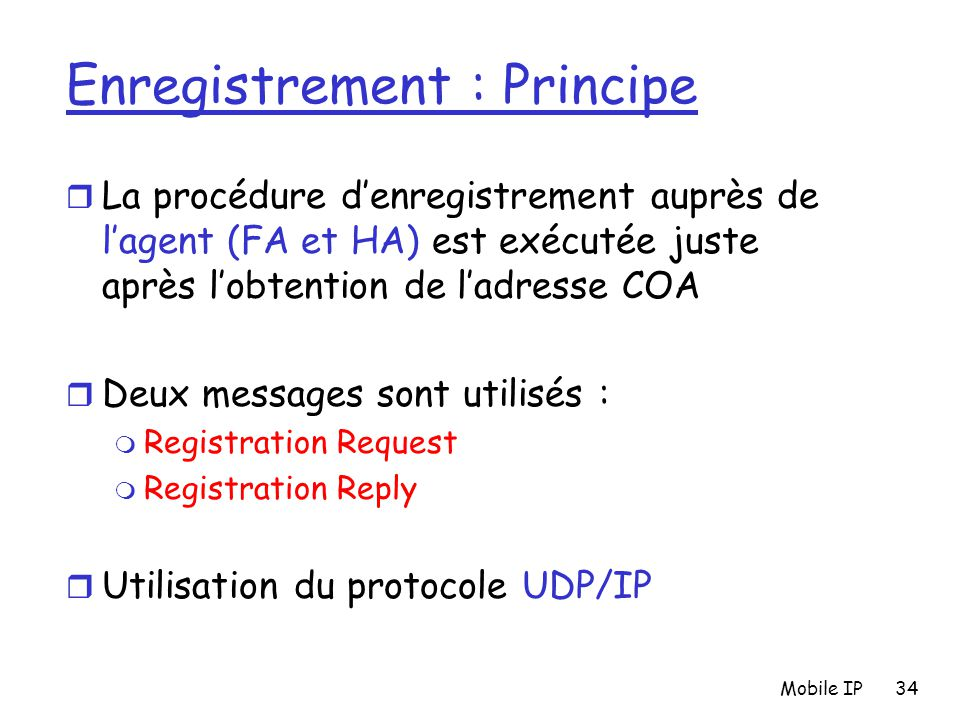 Enregistrement : Principe