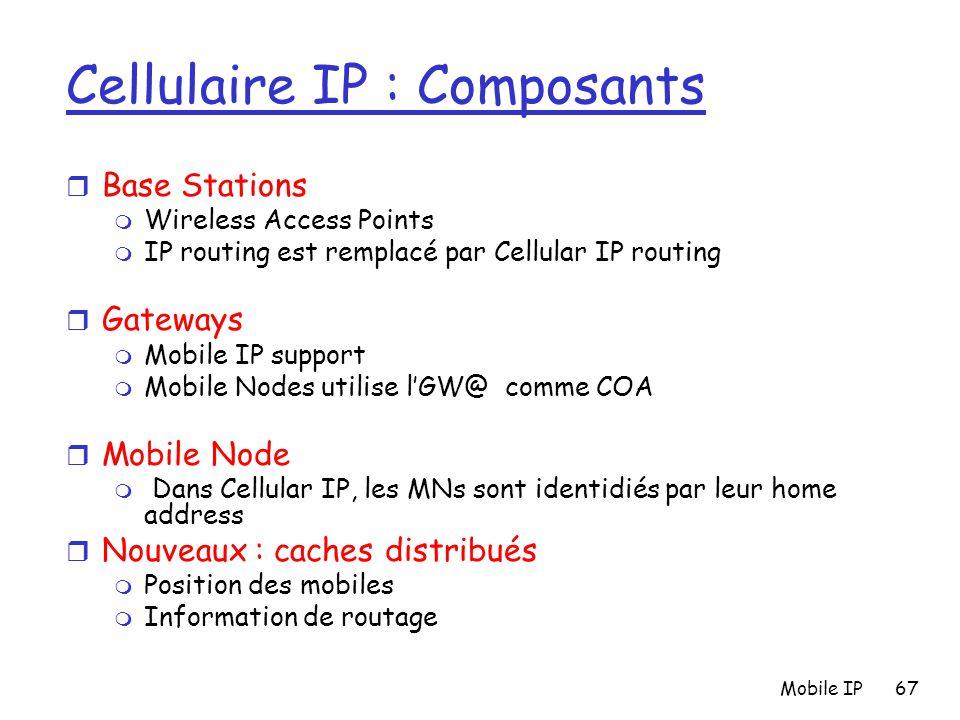 Cellulaire IP : Composants