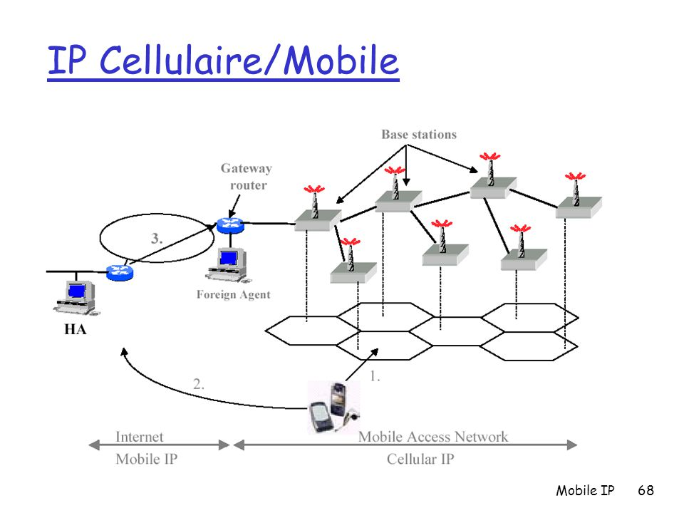 IP Cellulaire/Mobile Mobile IP