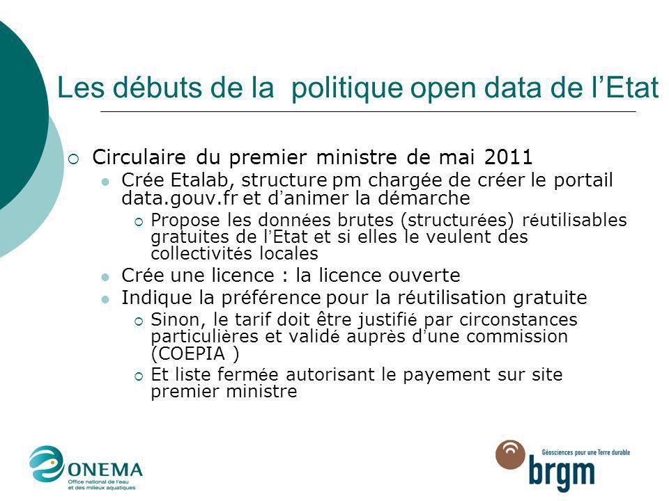 Les débuts de la politique open data de l'Etat
