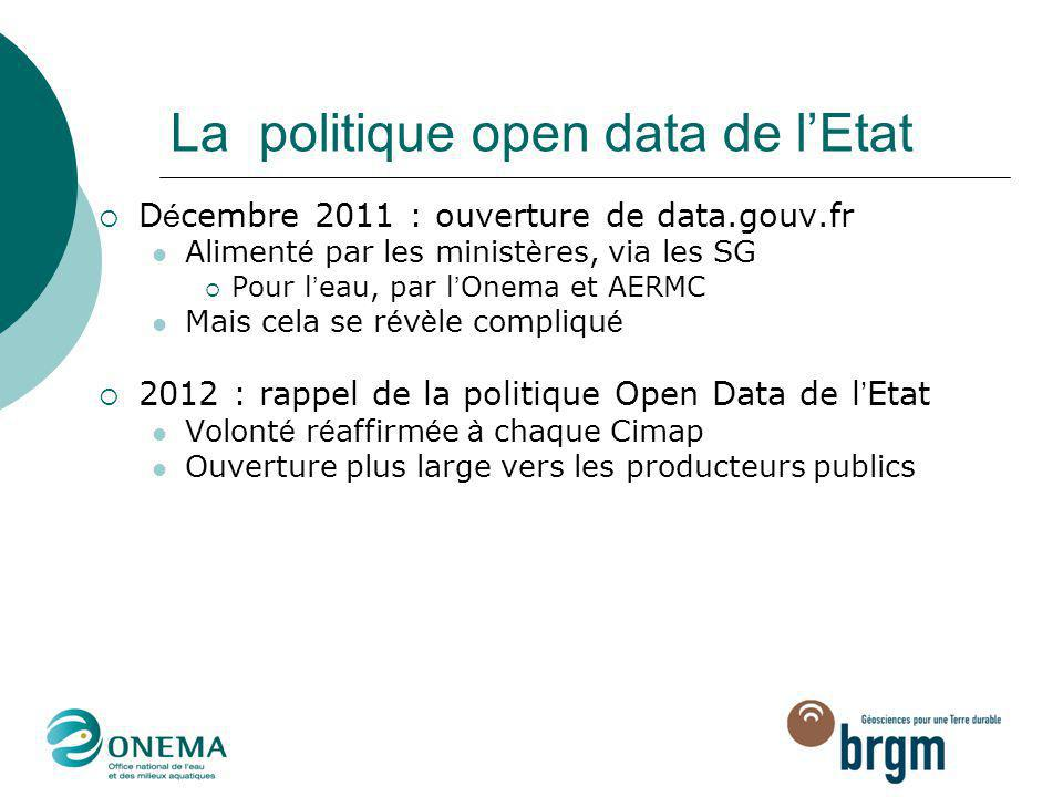 La politique open data de l'Etat