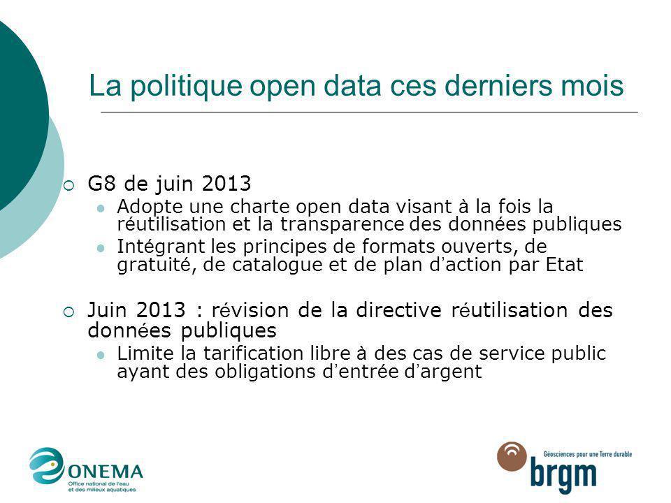 La politique open data ces derniers mois