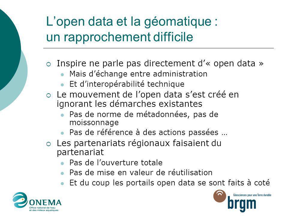 L'open data et la géomatique : un rapprochement difficile