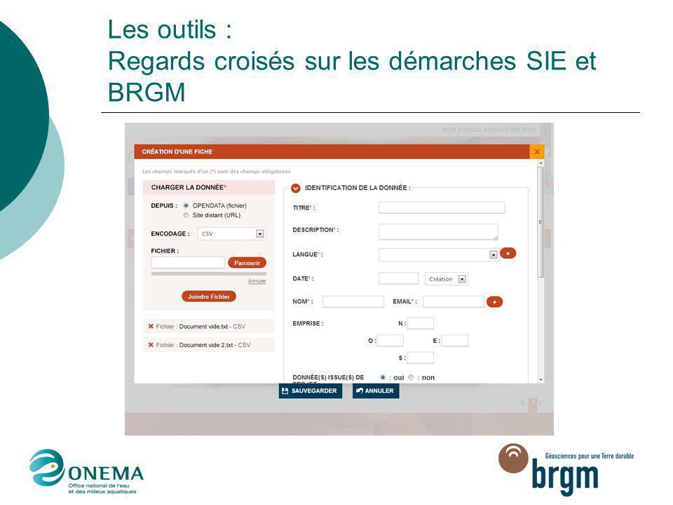 Les outils : Regards croisés sur les démarches SIE et BRGM