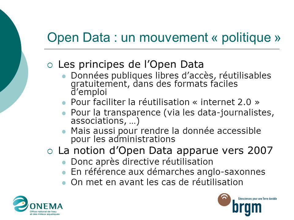Open Data : un mouvement « politique »
