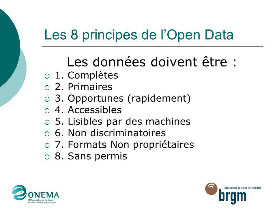 Les 8 principes de l'Open Data