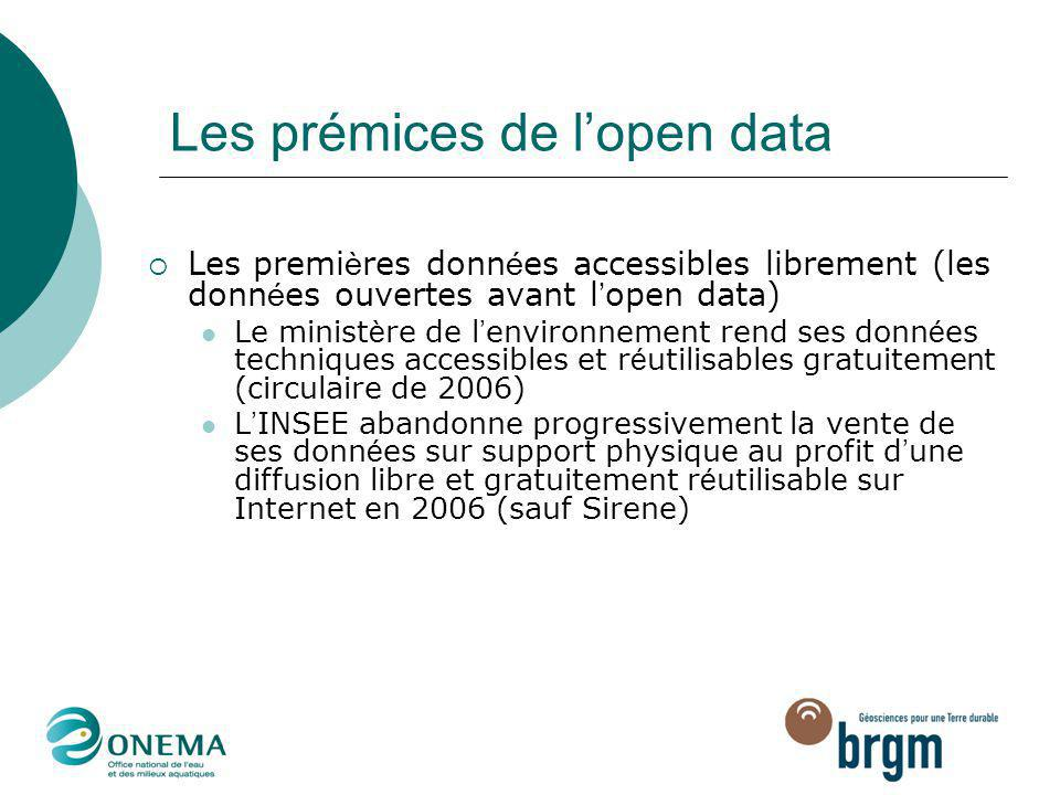 Les prémices de l'open data