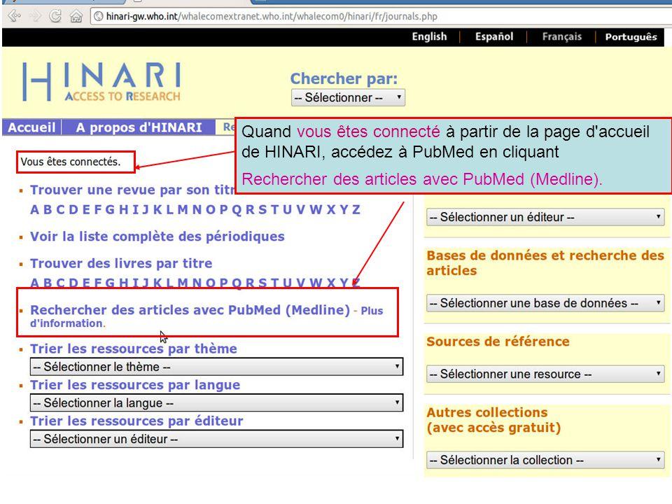 Rechercher des articles avec PubMed (Medline).