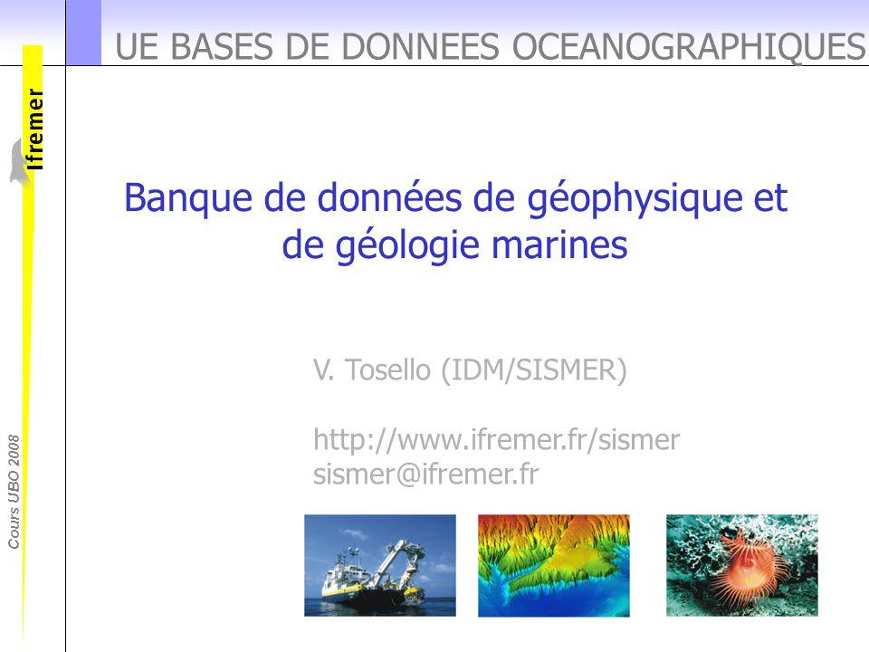 UE BASES DE DONNEES OCEANOGRAPHIQUES